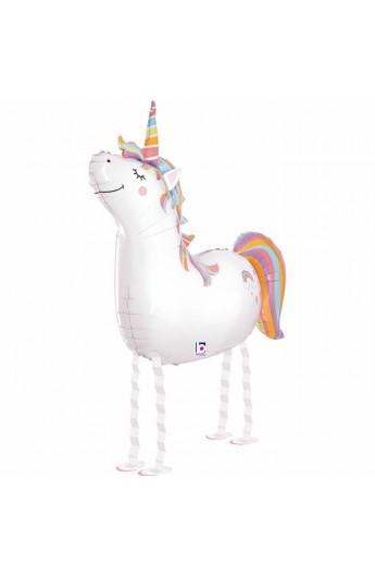 """Balon foliowy 38"""" chodzący Unicorn"""