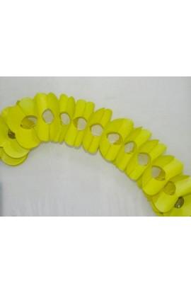 Girlanda jednokolorowa żółta 1 szt.