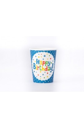 "Kubek papierowy ""happy birthday"""