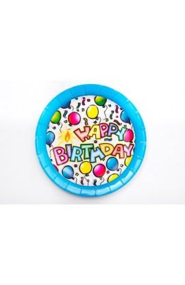 """TALERZYKI PAPIEROWE""""Happy BirthDay"""" v2"""