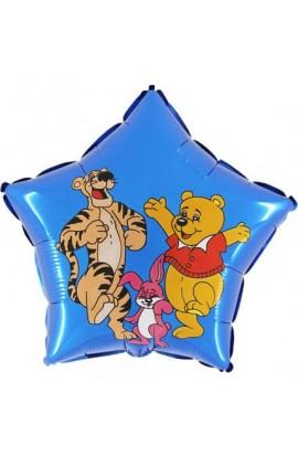"""Balon foliowy 18"""" Tygrysek z misiem"""