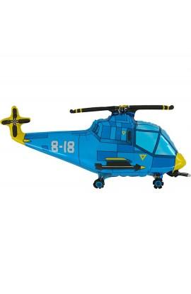 """Balon foliowy 14"""" Helikopter niebieski"""