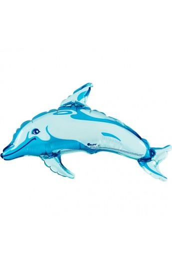 """Balon foliowy 14"""" Delfin niebieski"""