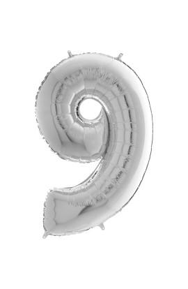 """40"""" 101 CM CYFERKA SREBRNA 9"""