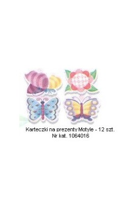 Motyl - Karteczki na prezenty