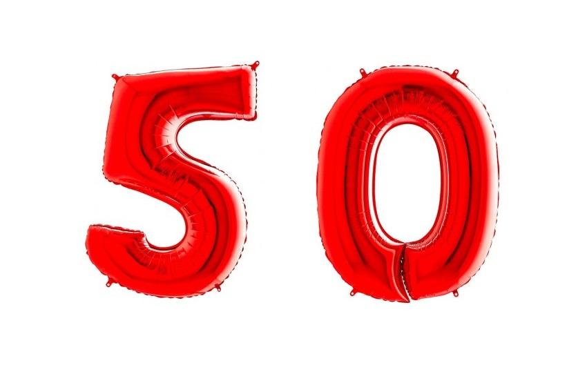 balony gumowe cyfry 50